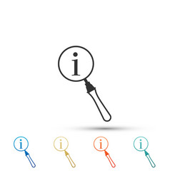 magnifying glass and information icon isolated vector image