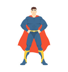 Male superhero or superman man with muscular body vector