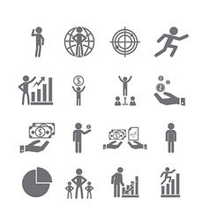 Management icons set vector