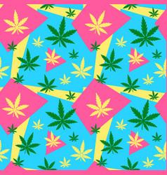 marijuanagreen weed dope seamless vector image