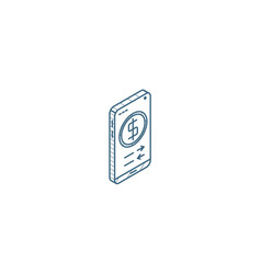 mobile payment internet banking web pay isometric vector image