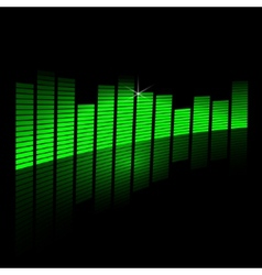 music equalizer beam on black background vector image