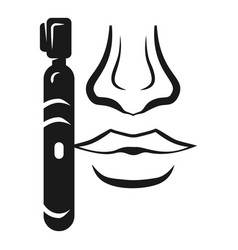 nose trimmer icon simple style vector image