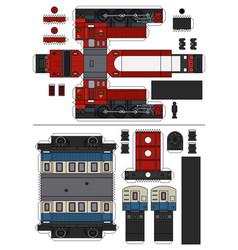 Paper model of a vintage train vector