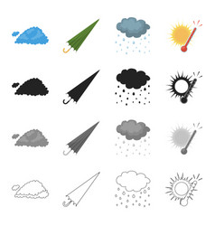 phenomenon nature ecology and other web icon in vector image