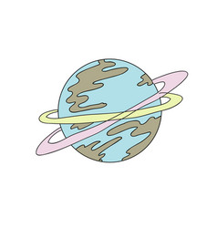 planet color vector image