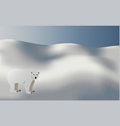 polar bear in snow background vector image
