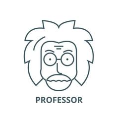 Professoreinsteinscientistfreak line vector