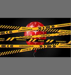 quarantine concept for black friday vector image