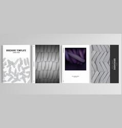 Realistic layouts cover mockup design vector