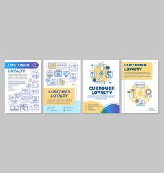 Referral customer loyalty brochure template vector