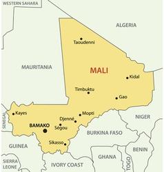 Republic of Mali - map vector image