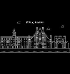 rimini silhouette skyline italy - rimini vector image