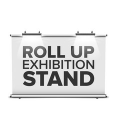 roll up exhibition stand with backlighting vector image