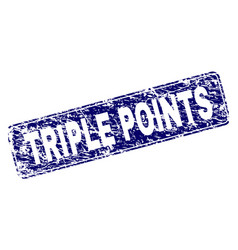 Scratched triple points framed rounded rectangle vector