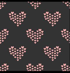 seamless mosaic heart pattern hand drawn design vector image