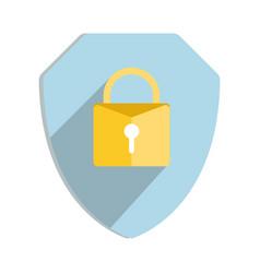 Security shield or virus shield lock icon vector