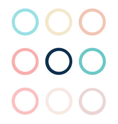 set of colorful circles in flat design vector image