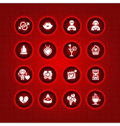 set valentines day icons love romantic symbols vector image