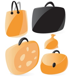 smooth bags icons vector image