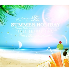 Summer Beach Wallpaper vector image