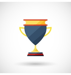 Symbol of a cup of the winner with a shadow vector