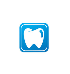 teeth care symbol in square shape for dentist vector image