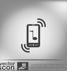 Telephone handset vector