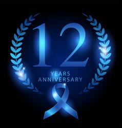 Twelve years anniversary vector