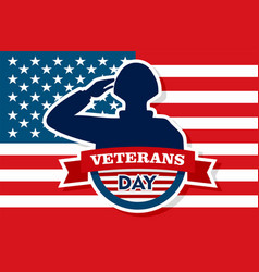 Usa veterans day concept background flat style vector