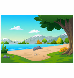 view beach in morning time vector image