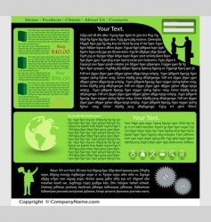 web site vector image