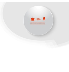white circle Abstract background vector image