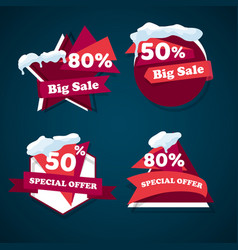 winter big sale templates banner vector image