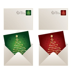 christmas mail vector image vector image