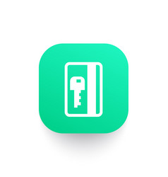 electronic pass card key icon vector image