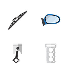 flat component set of packing conrod auto vector image vector image