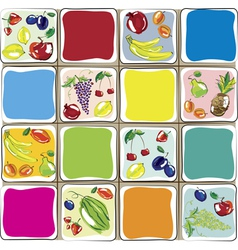 fruits designs for the kitchen vector image vector image