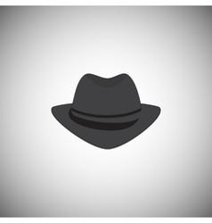 Grey vintage hat with a brim vector image vector image