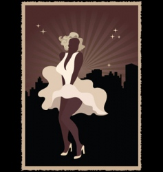 Marilyn Monroe poster vector image vector image
