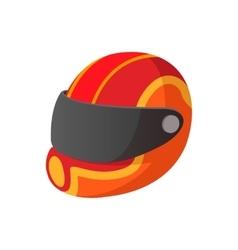 Racing helmet cartoon icon vector image