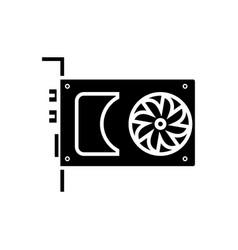 sound card - video card icon vector image