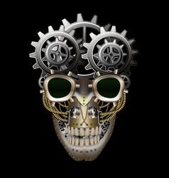 Steam punk skull vector image vector image