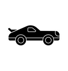 car racing icon black sign vector image