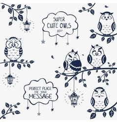 owls funny vector image