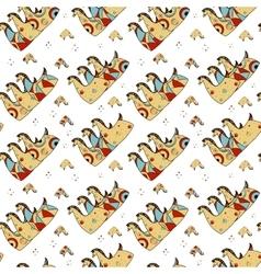 Seamless pattern design three horses vector image vector image