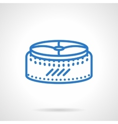 Seat pouf simple blue line icon vector image vector image