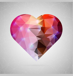 abstract creative concept icon of heart vector image