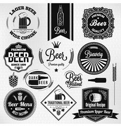 Beer labels set vector