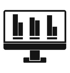 business graph at computer screen icon vector image